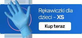 Rękawiczki nitrylowe dla dzieci XS